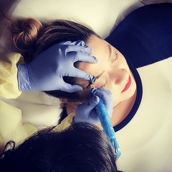 Young Woman getting Microblading